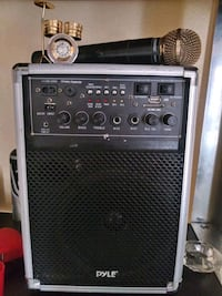 pyle all in one sound system and shure microphone Las Vegas, 89147