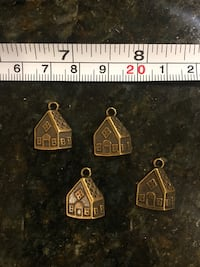 4 houses pcs lot DIY charms for jewelry making art crafts Lutherville Timonium, 21093