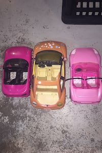 Three Barbie cars Cambridge, N1R 4W6