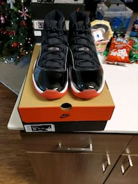 Air Jordan bred 11s size 13 with original box and card