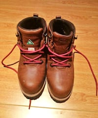 Size 7 Hiking/ Steel Toe Leather Boots