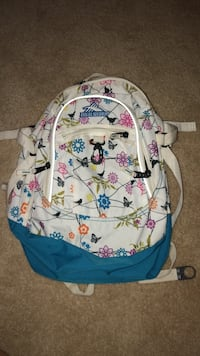 white, blue, and pink floral backpack Oklahoma City, 73012