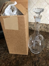Wine or water bohemian bottle with gift box