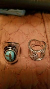 Turquoise  Silver Ring $25.00 1129 mi