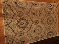 white, brown, and black floral area rug Park Ridge, 60068