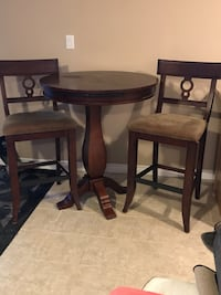 Wood table and chairs Clearview, L0M