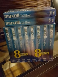 10 Maxwell blank VHS tapes  Jessup, 20794