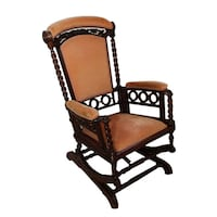 BEAUTIFUL VICTORIAN UPHOLSTERED ROCKING CHAIR Lakewood