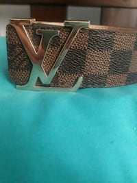 Brown and gold buckle lv belt  Mississauga, L5L 3S1