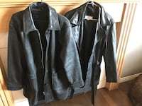 Leather Coats, one medium and one large  Grande Prairie, T8V 2L5