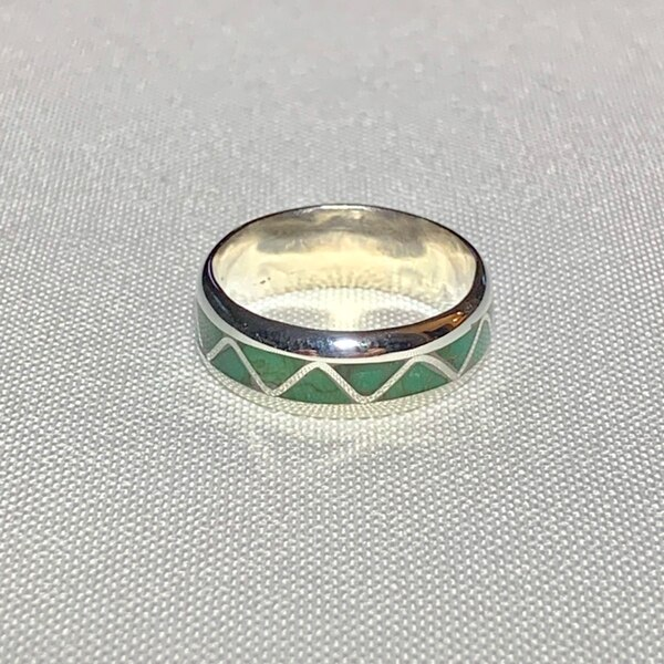Genuine Sterling Silver Jade Ring f4b18d1d-580c-47bc-8252-1fcd61ad2f2d