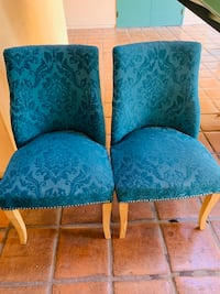 2 blue accent chairs  Fullerton, 92832