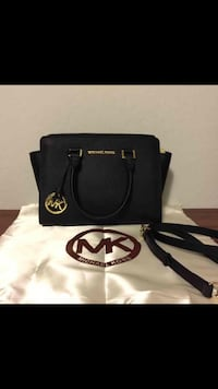 black Michael Kors leather 2-way handbag Vienna, 26105