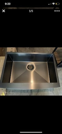 Brand new stainless steel drop sink