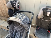 All 3 items for $60. car seat and Peg Parago strollercarrier Toronto, M9P 1B1