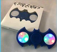 blue batman led hand spinner with box