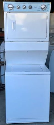 Whirlpool Large Stacked Laundry, 1 year warranty