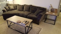 Charcoal microfiber chaise couch Oakland, 94612