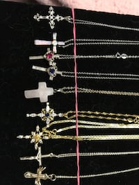 925 cross necklaces $30.00 each