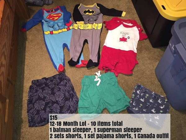 Twin Baby Boy 12-18 Month Summer Clothes