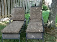 2 Patio Lounge Chairs with Cushions  Burlington, L7M 2V7