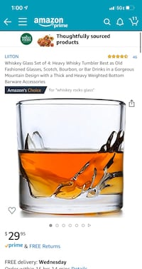 4.6 out of 5 stars  46 Reviews Whiskey Glass Set of 4