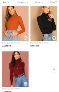 Turtle Neck Crop Tops Toronto, M6M 1H9