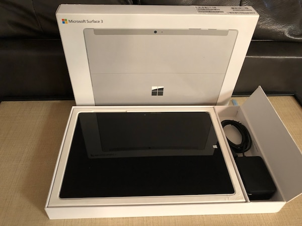 Microsoft Surface 3 with box, keyboard and case