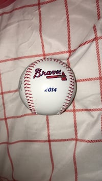 Braves baseball signed by players (2014) Cumming, 30040