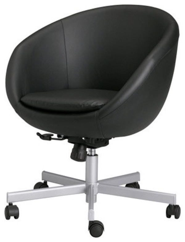 Ikea Skruvsta Round Swivel Chair Idhult Black
