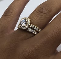 10k gold halo ring Brampton