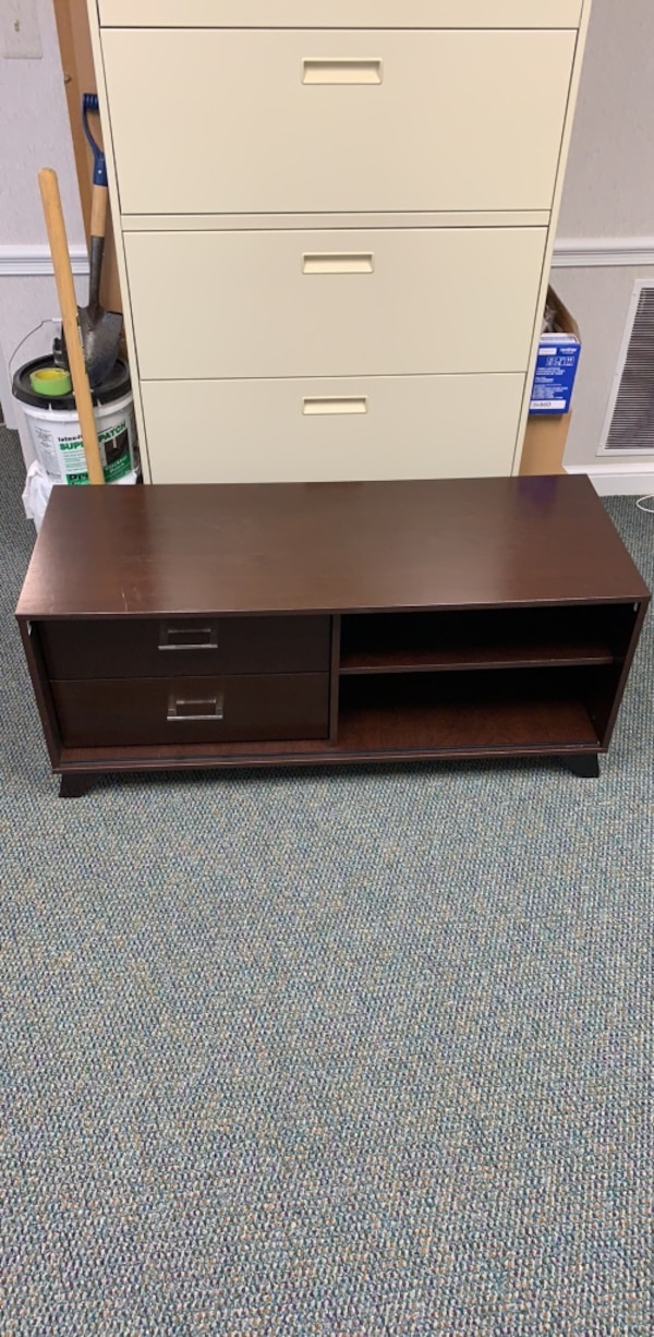 Brown TV Stand with Drawers