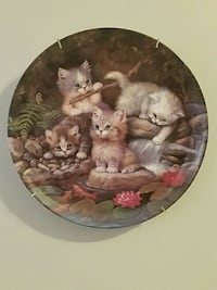 Cat lovers ceramic decorative plate