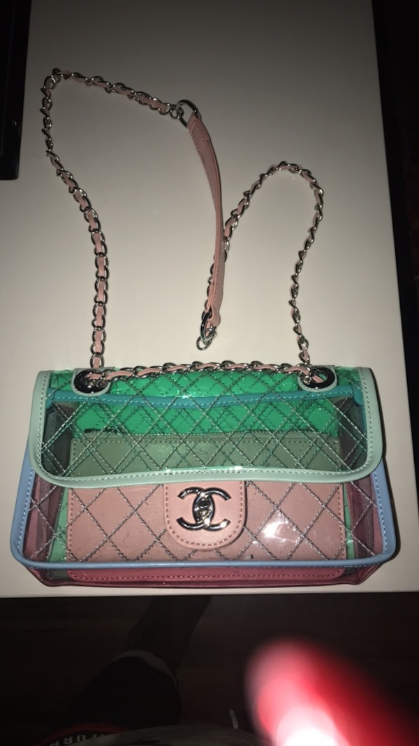 605ca6d54b52 Used Clear pastel quilted purse chanel for sale in Livermore - letgo