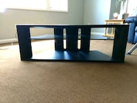 black wooden framed glass TV stand Fort Wayne, 46845