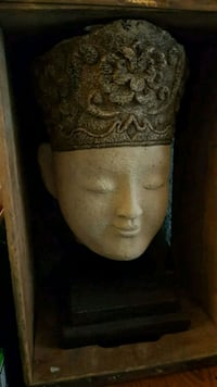 Asian Buddha Head Statue