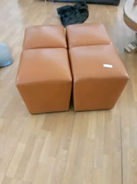 Leather ottoman/ stools great condition North Las Vegas, 89086