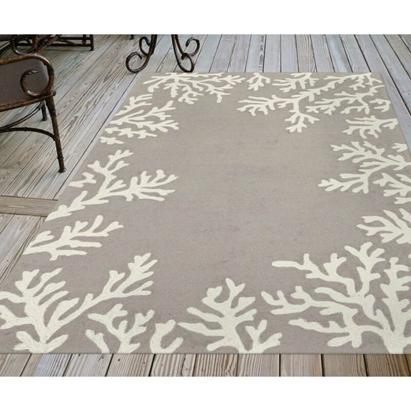 Brand New Hand-Tufted 5x8ft (150x240cm) Gray Silver Area Rug