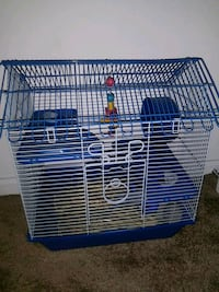 blue and white metal pet cage 43 km