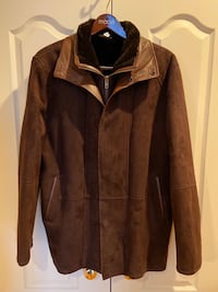 Aston New York Leather Suede Shearling Jacket size XL (New) Hopkinton, 01748