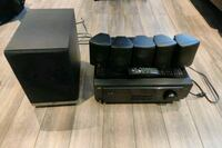 JVC 5.1 stereo system with 5 speakers and subwoofe Toronto, M9R 2S3