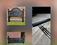 Very sturdy black wooden queen frame and headboard Baton Rouge