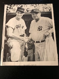 Ted Williams Babe Ruth shaking hands 1943 East Providence, 02914