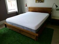 EQ3 queen size bed + Endy memory form mattress Toronto, M5A 2V8