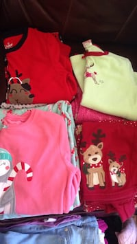 Girls size 7 and 8 holiday pjs Havre de Grace, 21078