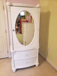 white wooden cabinet with mirror Laurel, 20723
