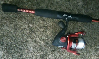 Shakespeare reverb fishing pole and reel,new condition