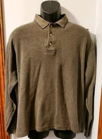 Naturalife Long Sleeve Collared Brown Shirt Middletown, 21769