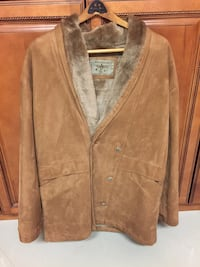 brown leather button-up jacket New York, 11366