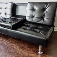 New Black Sofa/Futon/Sleeper Silver Spring